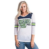 Women's 5th & Ocean by New Era Seattle Seahawks Burnout Tee