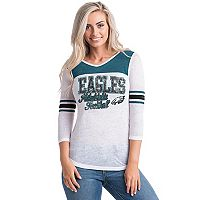 Women's 5th & Ocean by New Era Philadelphia Eagles Burnout Tee