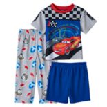 Disney / Pixar Cars  3 Toddler Boy Tee, Shorts & Pants Pajama Set