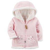 Baby Girl Carter's Sherpa Hooded Mouse Flannel Jacket