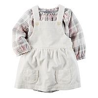 Baby Girl Carter's Plaid Bodysuit & Corduroy Jumper Set