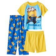 Toddler Boy Despicable Me Tee, Shorts & Pants Pajama Set