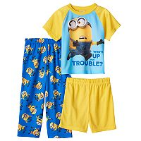 Toddler Boy Despicable Me Tee, Shorts & Pants Pajama Set