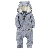 Baby Boy Carter's Sherpa Hooded Marled Coverall