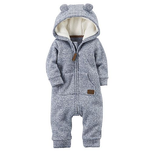 973a8e824 Baby Boy Carter's Sherpa Hooded Marled Coverall