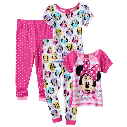 Disney's Minnie Mouse Toddler Girl Tops & Pants Pajama Set
