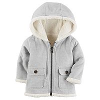 Baby Boy Carter's Sherpa Hood Flannel Jacket