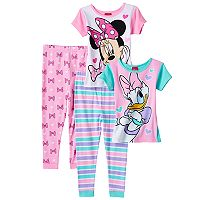 Disney's Minnie Mouse & Daisy Duck Toddler Girl Tops & Pants Pajama Set
