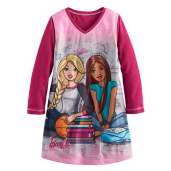 Girls 4-12 Barbie Reversible Plush Nightgown