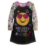 "Girls 4-12 ""Believe in your Selfie"" Icon Nightgown"