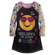 Girls 4-12 'Believe in your Selfie' Icon Nightgown
