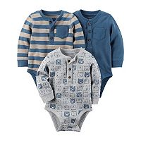Baby Boy Carter's 3-pk. Bear Thermal Bodysuits