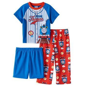 Toddler Boy Thomas The Train Top, Shorts & Pants Pajama Set