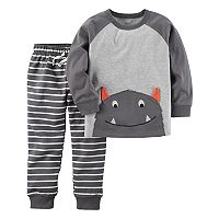Toddler Boy Carter's Monster Top & Striped Pants Set
