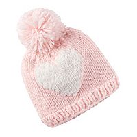 Baby Girl Carter's Knit In Heart Pom Pom Beanie
