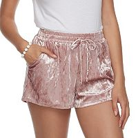 Juniors' Joe B Crushed Velvet Shorts