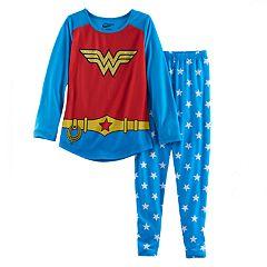Girls 6-12 DC Comics Wonder Woman Top & Bottoms Pajama Set