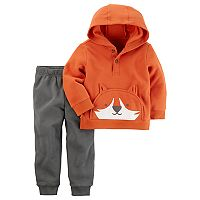 Toddler Boy Carter's Fox Hoodie & Fleece Jogger Pants Set