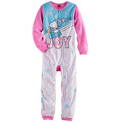 Girls 4-12 Peanuts Snoopy & Woodstock 'Joy' Blanket Sleeper Pajamas