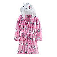 Girls 4-12 Hello Kitty® Hooded Robe
