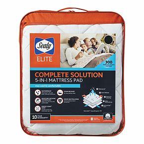Sealy Elite Waterproof & Allergen Barrier Protection Mattress Pad