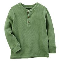 Toddler Boy Carter's Green Thermal Henley Tee