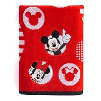 Disney's Mickey & Minnie Mouse Circles Bath Towel
