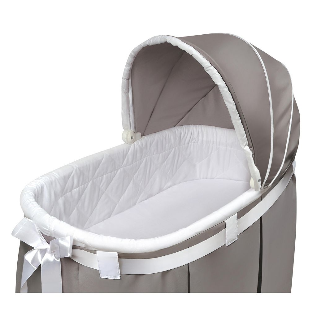Badger Basket Wishes Oval Bassinet & Full Length Skirt