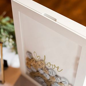 Cathy's Concepts Shadowbox Heart Drop Guestbook 101-piece Set