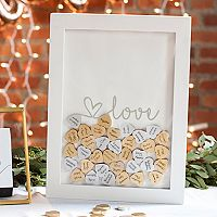 Cathy's Concepts Shadowbox Heart Drop Guestbook 101 pc Set