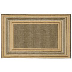 Liora Manne Terrace Etched Border Indoor Outdoor Rug
