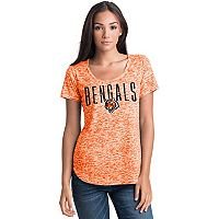 Women's 5th & Ocean by New Era Cincinnati Bengals Burnout Wordmark Tee
