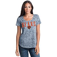 Women's 5th & Ocean by New Era Chicago Bears Burnout Wordmark Tee