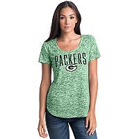 Women's 5th & Ocean by New Era Green Bay Packers Burnout Wordmark Tee