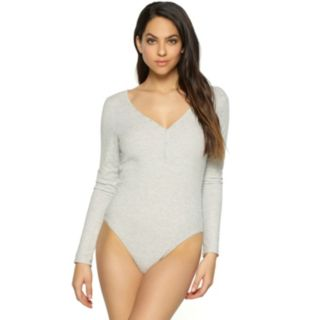 Women's Jezebel Long Sleeve Henley Bodysuit 900228