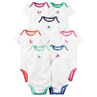 Baby Girl Carter's 7-pk. Weekday Graphic Bodysuits