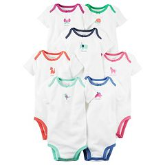 Baby Girl Carter's 7 pkWeekday Graphic Bodysuits