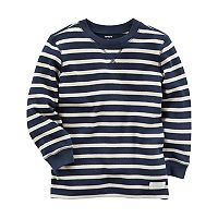Toddler Boy Carter's Navy Striped Thermal Long Sleeve Tee