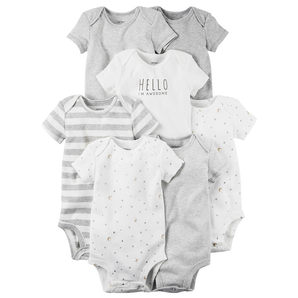 Baby Carter's 7-pk. Print, Graphic & Solid Bodysuits