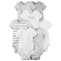 Baby Carter's 7 pkPrint, Graphic & Solid Bodysuits