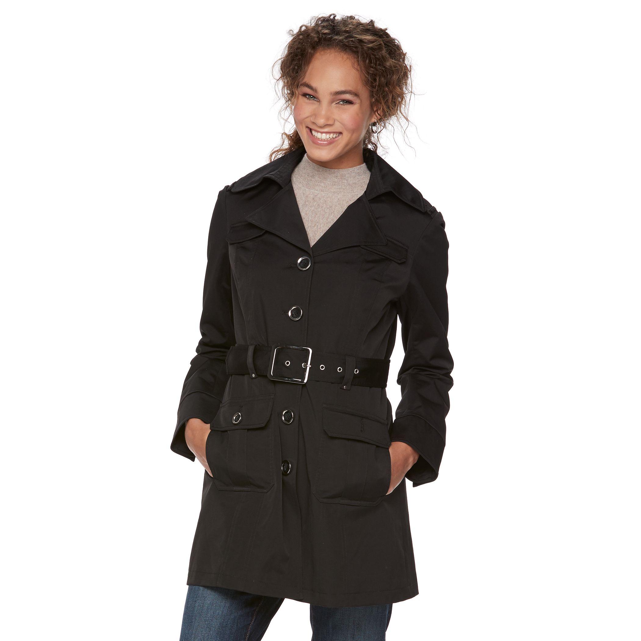 2907662_Black?wid=1000&hei=1000&op_sharpen=1 apt 9� military trench coat,Kohls Apt 9 Womens Clothing