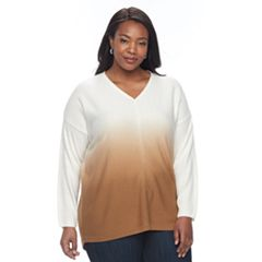 Plus Size Napa Valley Dip-Dye Sweater