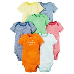 Baby Carter's 7 pkGraphic & Striped Bodysuits