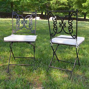 Regency Outdoor Folding Chair 2-piece Set