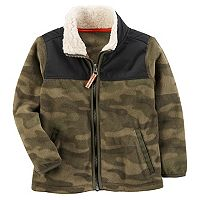 Toddler Boy Carter's Sherpa Camo Jacket