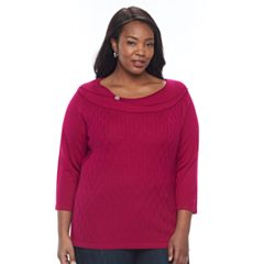 Plus Size Napa Valley Textured Sweater