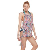 Juniors' Social Angel Printed Tank Cover-Up