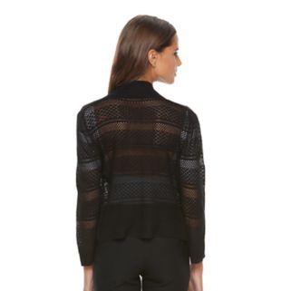 Women's Ronni Nicole Mesh Striped Cardigan