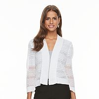 Women's Ronni Nicole Mesh Striped Cardigan