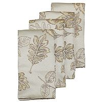 Celebrate Fall Together Metallic Leaf Napkin 4-pk.